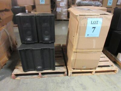 LOT (3) PEAVEY TRIFLEX II THREE-WAY SELF POWERED TWO-CHANNEL SOUND REINFORCEMENT SYSTEM, (CUSTOMER RETURNS), (LOCATION SEC.7)