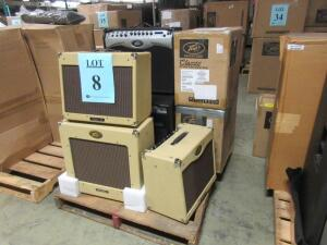 LOT (8) ASST'D PEAVEY GUITAR AMPLIFIERS, (4) CLASSIC 30, (1) DELTA BLUES, (1) VYPYR PRO-100, AND (2) 6505+ 112, (CUSTOMER RETURNS), (LOCATION SEC.7)