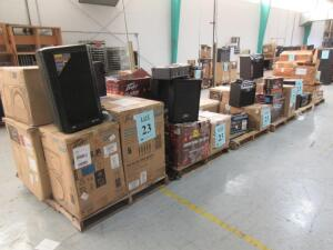 LOT ASST'D PEAVEY ELECTRONICS, SPEAKERS, WIRELESS HEADSET, GUITAR AMPLIFIERS, DM 112, MAX 112, PVXP 12, PVX 15, ESCORT 3000, PV I4B, VYPYR VIP-1, VIP-