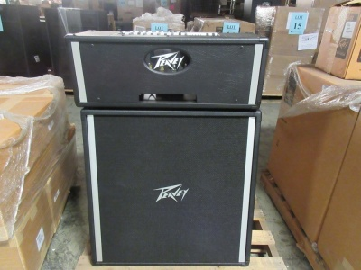 LOT (4) PEAVEY PS2 PA HEADS AND (4) PEAVEY 410 STEREO PA UNITS, (CUSTOMER RETURNS), (LOCATION SEC.7)